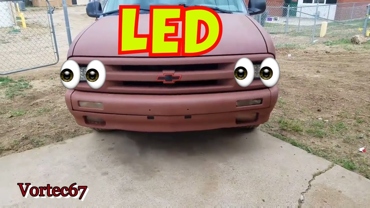 1997 S10 Ss Led Headlights Installed
