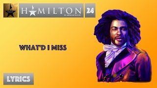 #24 Hamilton - What