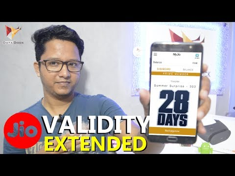 Jio Summer Surprise Offer 28 Days Extended Validity | Data Dock