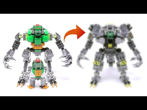 My Son's Mech Upgrade Again - Crocodile Soldier Mech - Stop Motion Build