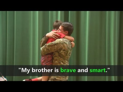 Sixth-grader Reunited with Hero Brother in Surprise Homecoming