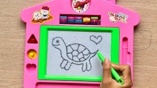 Đồ chơi BẢNG TỪ THẦN KÌ kì giúp bé học vẽ và viết chữ - Magic toys for kids (Chim Xinh)