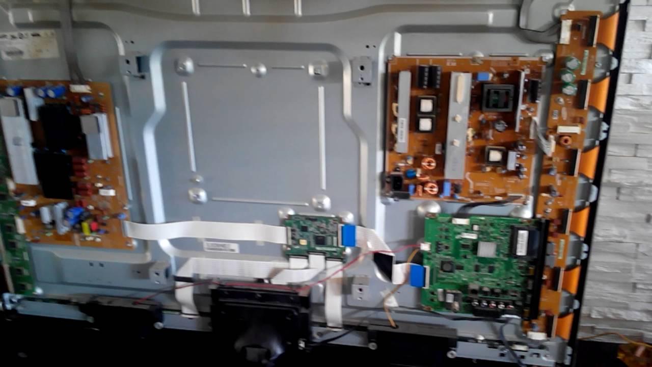 Samsung Plasma TV vertical line problem 51d550  YouTube
