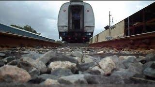Amtrak Train Runs Over Camera In Reverse
