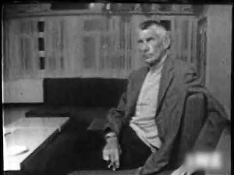 Just footage of Samuel Beckett sitting (1969 / 1982)