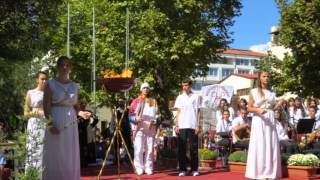 Olympic Flame in Giannitsa 2013