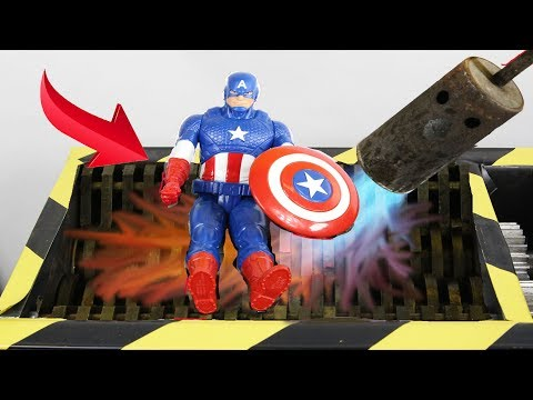 Experiment 1000 Degree Shredder VS Captain America And Toys Satisfying | The Crusher