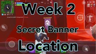 Week 2 Secret Battle Star/Banner Icon Location - Season 8 - Fortnite Battle Royal - Jason Mc