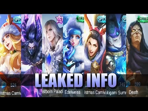 LEAKED INFO - 7 NEW SKINS AND NO DIAMONDS