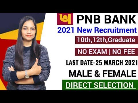 PNB Bank Recruitment 2021   PNB New Recruitment 2021   PNB Jobs 2021  Govt Jobs March 2021   PNB