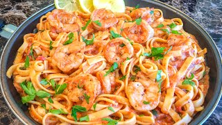 | Instant Pot | Shrimp Pasta with Creamy Tomato Sauce
