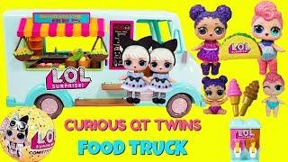 LOL Surprise Food Truck Curious QT Twins Stardust Queen Purple Queen Help Out