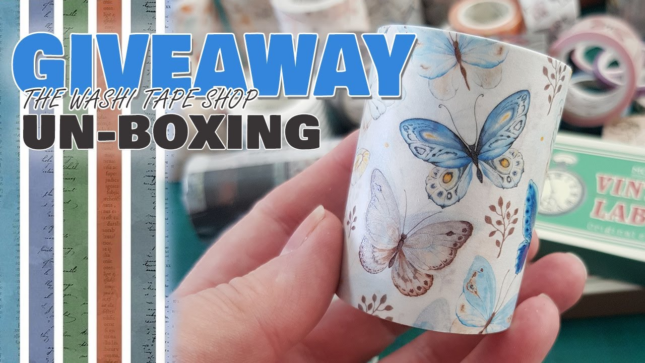 The Washi Tape Shop Unboxing and Giveaway + something a little different