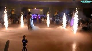 Low Fog Chauvet Nimbus & Indoor Fireworks Upward & Waterfalls