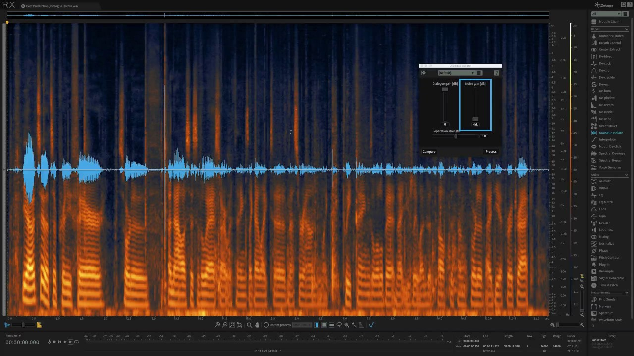 How to Use Dialogue Isolate in iZotope RX 6 — Pro Audio Files