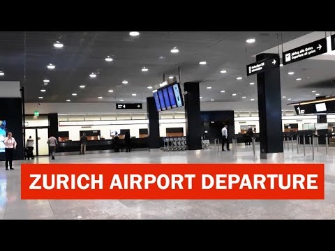 Zurich Airport Departure Complete Tour | Switzerland Travel