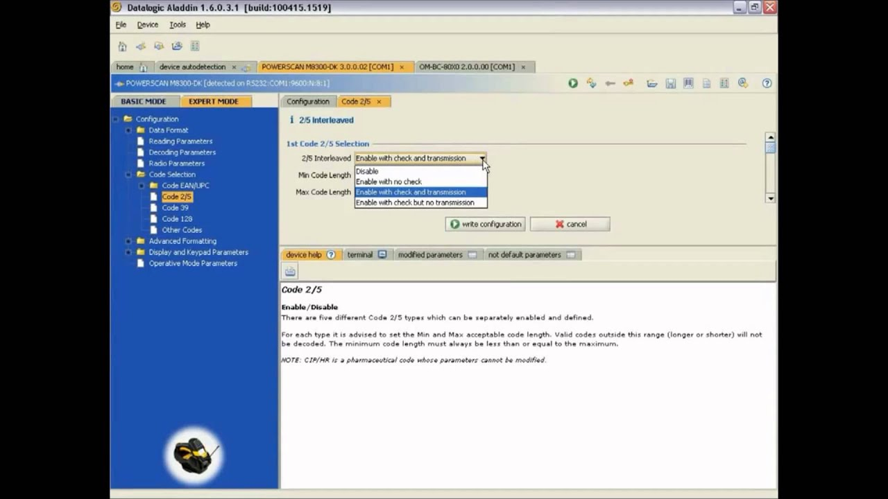 logiciel aladin datalogic
