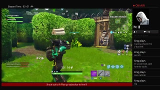 Fortnite battle royale going for dubs 182 wins!!! New game mode win 50k v bucks!!!