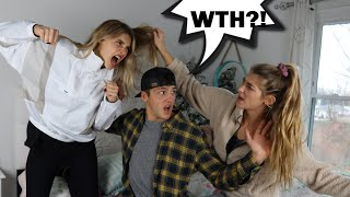 getting in a FIGHT PRANK on sister's fiancé!! *Jatie Vlogs*