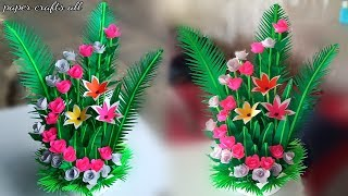paper flower bouquet wrapping tutorial / birthday flower bouquet make / handmade florales flower