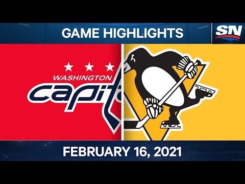 NHL Game Highlights | Capitals vs. Penguins - Feb. 16, 2021