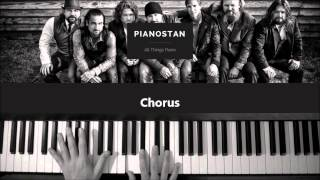 How To Play Colder Weather Zac Brown Band Piano Tutorial Lesson - Como Tocar Piano