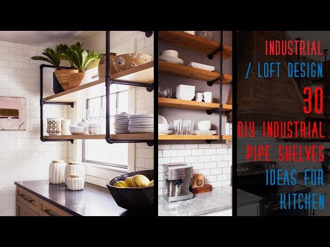 30 DIY Industrial Pipe Shelves Ideas For Kitchen