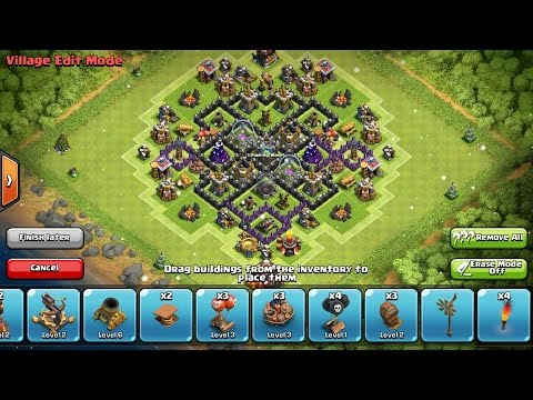 Clash Of Clans Best Epic New Th7 Farming Base Design Without