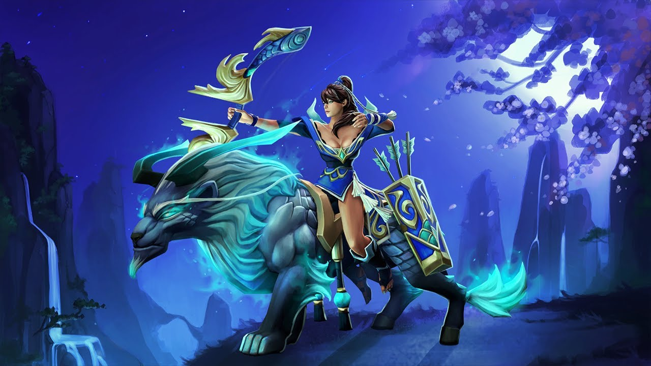 dota 2 mirana gifts of the heavenly guardian set preview youtube