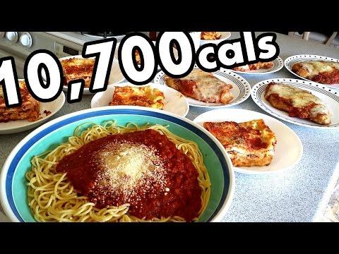 Massive Italian Feast Challenge (10,700 Calories)