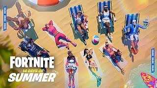 FORTNITE 14 DAYS OF SUMMER EVENT Gameplay Update with GIVEAWAYS - (Fortnite Summer Event)