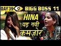 Mehjabi Makes Hina Khan Cry   Bigg Boss 11 Day 39   9th November 2017 Full Episode Update