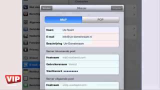 iPad e-mail instellen