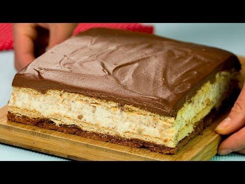 Torta Kinder Bueno Gigante! Un dolce senza cottura affascinante! | Saporito.TV
