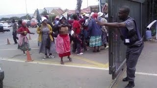 Kenyan Women Protest Poor Performance Of Their Husbands And Failure To Get Them Pregnant
