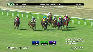 Vidéo de la course PMU PREMIO EMBASSY NOTE 2012