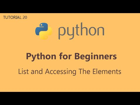 #20 Python Tutorial for Beginners   List And Accessing The Elements thumbnail