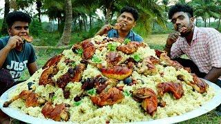 CHICKEN KABSA RECIPE  Traditional Arabian Chicken Kabsa  Cooking Village Food Channel