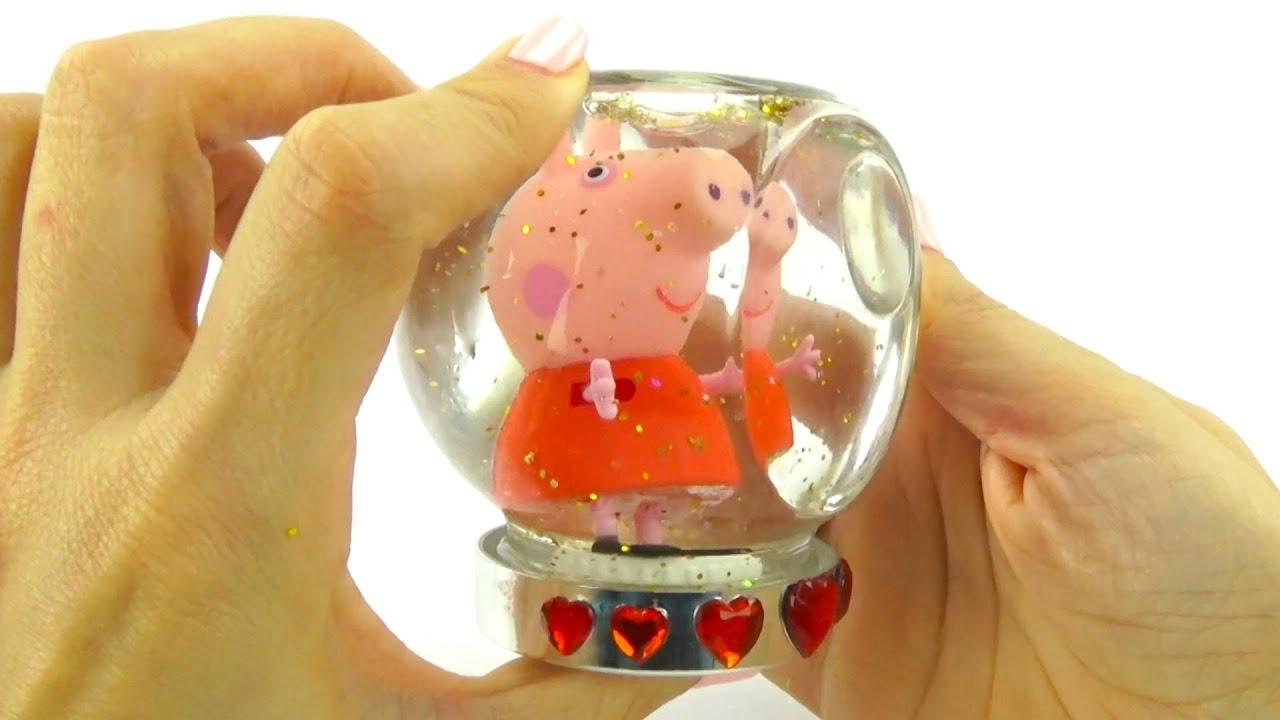 Делаем снежные шары со Свинкой Пеппой и МайЛитлПони