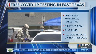 East Texas Locations Offering Free COVID-19 Testing