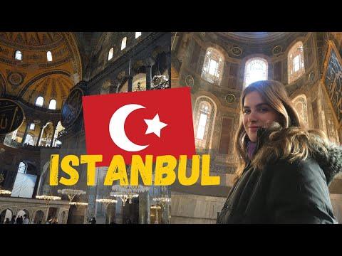 ISTANBUL TRAVEL VLOG   Hagia Sophia, Grand Bazaar + Turkish Desserts