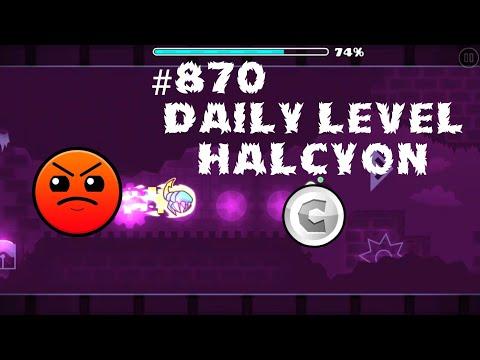 DAILY LEVEL #870 Geometry Dash 2.11 el nivel HALCYON