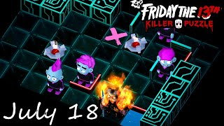 Friday the 13th Killer Puzzle Daily Death July 18 2020 Walkthrough