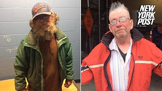 Compassionate cops shower, shave, and shear this homeless man | New York Post