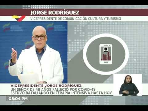 Reporte Coronavirus Venezuela, 03/07/2020: Jorge Rodríguez reporta 264 casos y 2 fallecidos