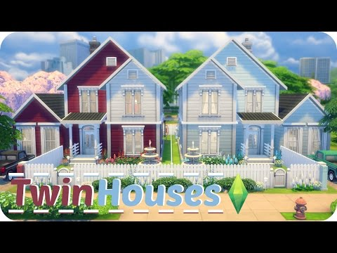 Sims 4 Speed Build | Twin Houses (Traditional Family Homes)