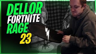 DELLOR FORTNITE MEGA RAGE 23 *BREAKS DESK AND KEYBOARD*