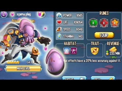 😊Monster Legends - Privateer Morgan level 130 vs Super Dan Globrush Rabooka Hercule