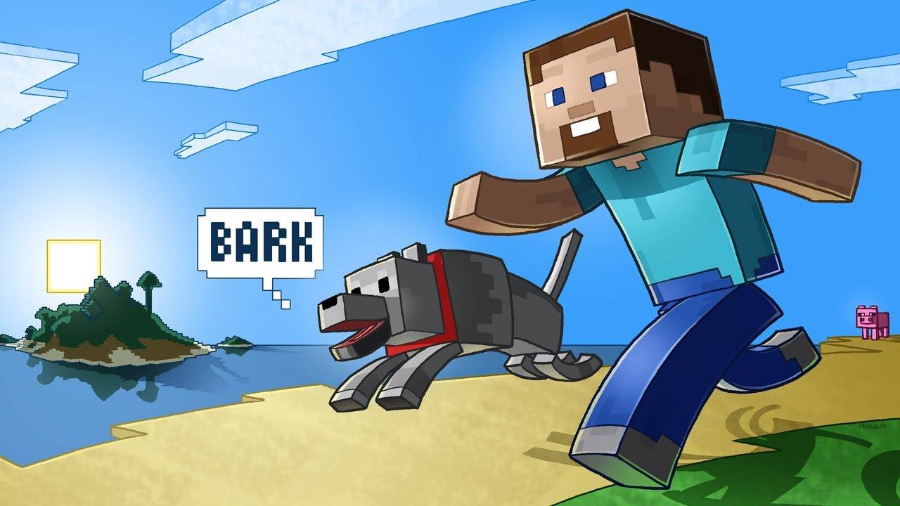 Minecraft Steve and His Dog YouTube