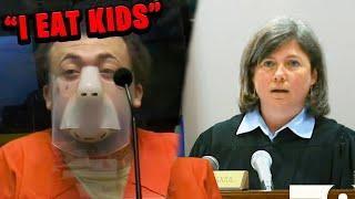 Judge Destroys Convict Caught Pretending to be Crazy..